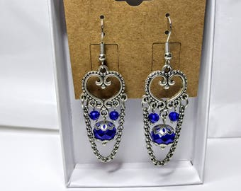 Heart and Chain Earrings