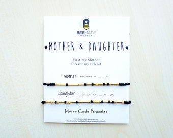 Mother Gift mothers day jewelry Mother and Daughter Morse Code Bracelets Mothers Day from Daughter Gift Mom Gift for Mom Mothers Day Gift