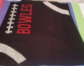 Football Laces Shirt, Football mom shirt, Football Mom, Football Shirt, Customized Football Shirt, Football Bling, Football, Game Day Shirt