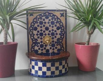 Mini flat Zelije fountain handmade - Handicraf