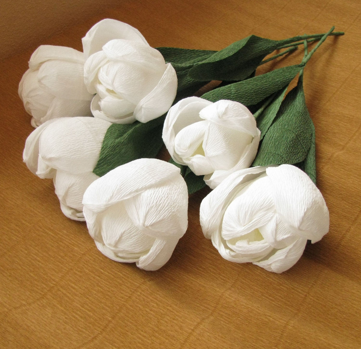 White large paper tulips crepe paper flowers wedding zoom mightylinksfo
