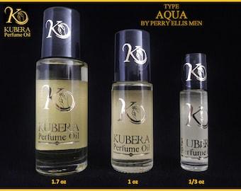 Type Aqua perfume in oil for men 1/3oz 1oz 1.7oz