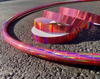 NEW* Rose Gold Laser Beam Holographic Hula Hoop