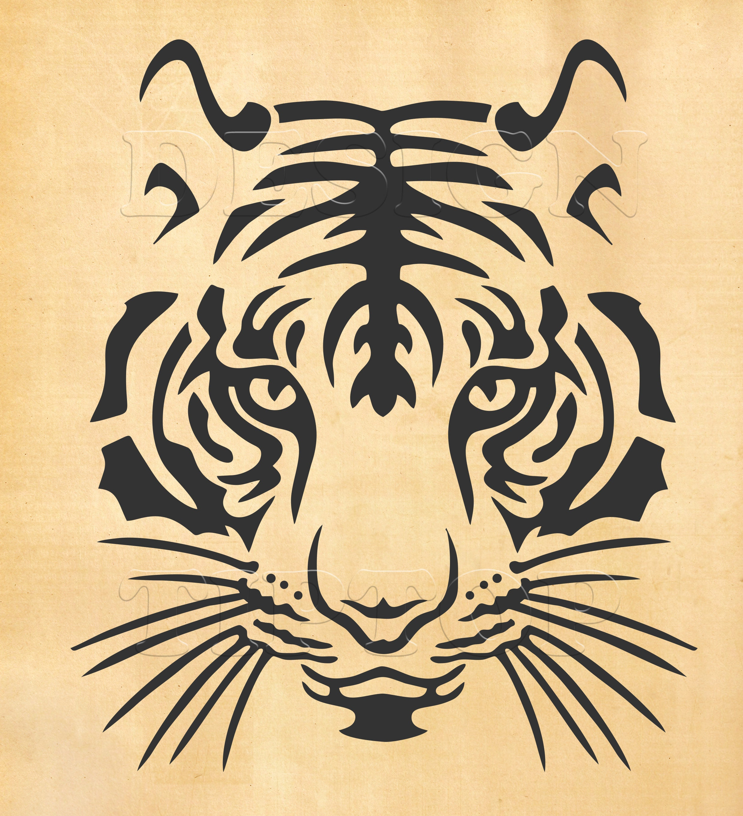 Tiger SVG head of a tiger svg dxf eps png print and cut