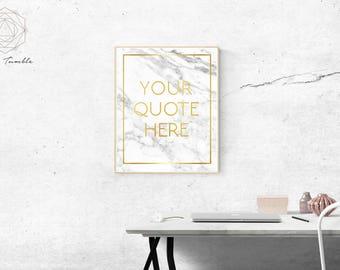 Marble and Gold Custom Digital Art Print