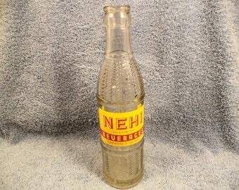 NEHI Soda Bottle 7 Ounce Bottled Sioux City Iowa