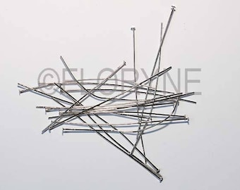 100 PCs 70Mm in antique silver flat head pin