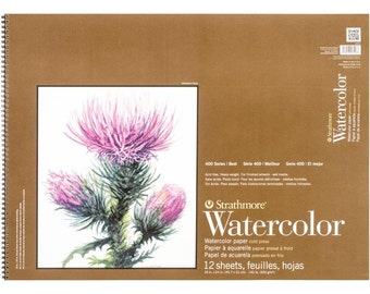 """Strathmore Watercolor Spiral Paper Pad 18""""X24""""- 12 Sheets"""