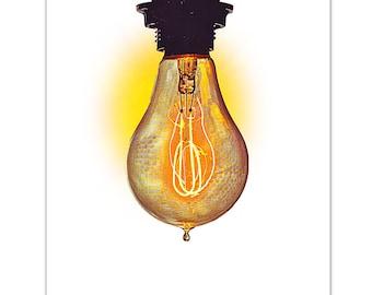 "ELECTRIC Bulb- ART Print 8"" x 10"""