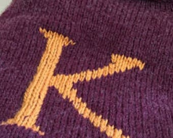 Hand Knitted Weasley Sweater - Rolled Neck Line - Custom