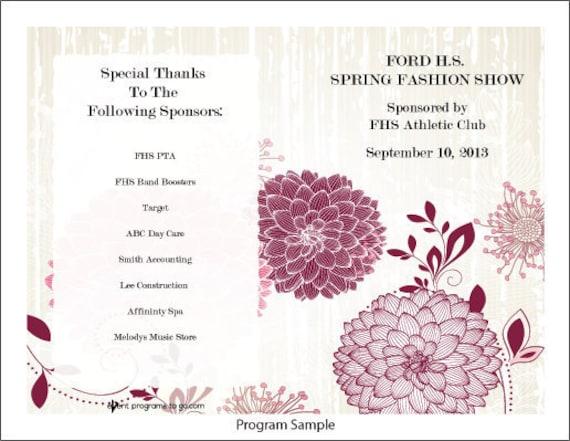 fashion show program template
