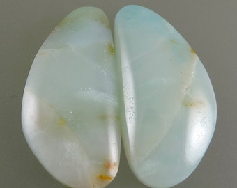 Hawaiian Surf Agate Cabochons, Moganite Earring Cabs, Designer Hawaiian Surf Earring Cabs, C2952, Hand Cut by 49erMinerals