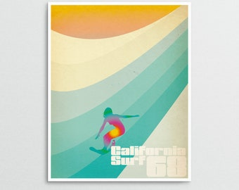 Master of Life - California Sixties Retro Surf Art Print