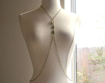 Bronze Leaf Body Chain Harness