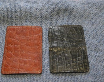alligator fold over card holder