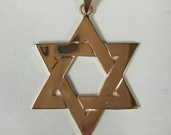 14 kt rose gold Jewish star/ Star of David