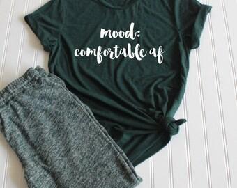 Mood: comfortable af triblend tee