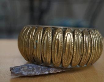 brass bracelet, Indian bracelet, vintage bangle, hippie bracelet, statement bracelet, seventies bracelet, bohemian bracelet