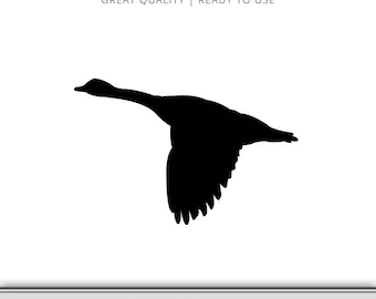 Goose Silhouette Graphic - Goose SVG - Goose Hunting - Goose SVG - Goose Clip Art - Geese - Instant Download - Ready to use!