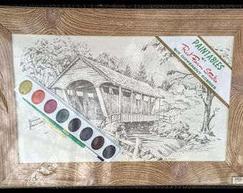 6 Red Farm Studios Paintables DRAWINGS To PAINT Farm ScenesUNopened KIT