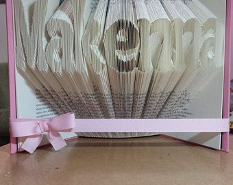 Custom Folded Book Art - Customized gifts for weddings, anniversaries, birthdays, holidays, teachers, graduation, him or her.