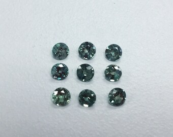 AA Quality Natural Brazilian Alexandrite 3mm Round Pair Great Color Change Green to Purple