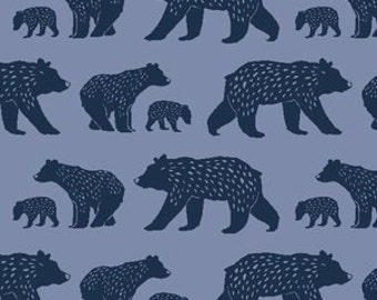 navy baby boy sheet- ORGANIC crib bedding- bear fitted crib sheet / mini crib sheet/ changing pad cover - bear sheet-  woodland baby bedding