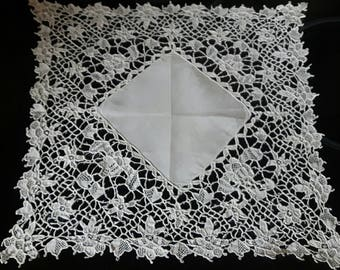 A Beautiful Lace Hanky for the Bride Handmade