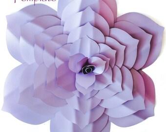 Paper Flower Template, DIY Paper Flower, Paper Flower Backdrop, Flower Template, Flower Pattern