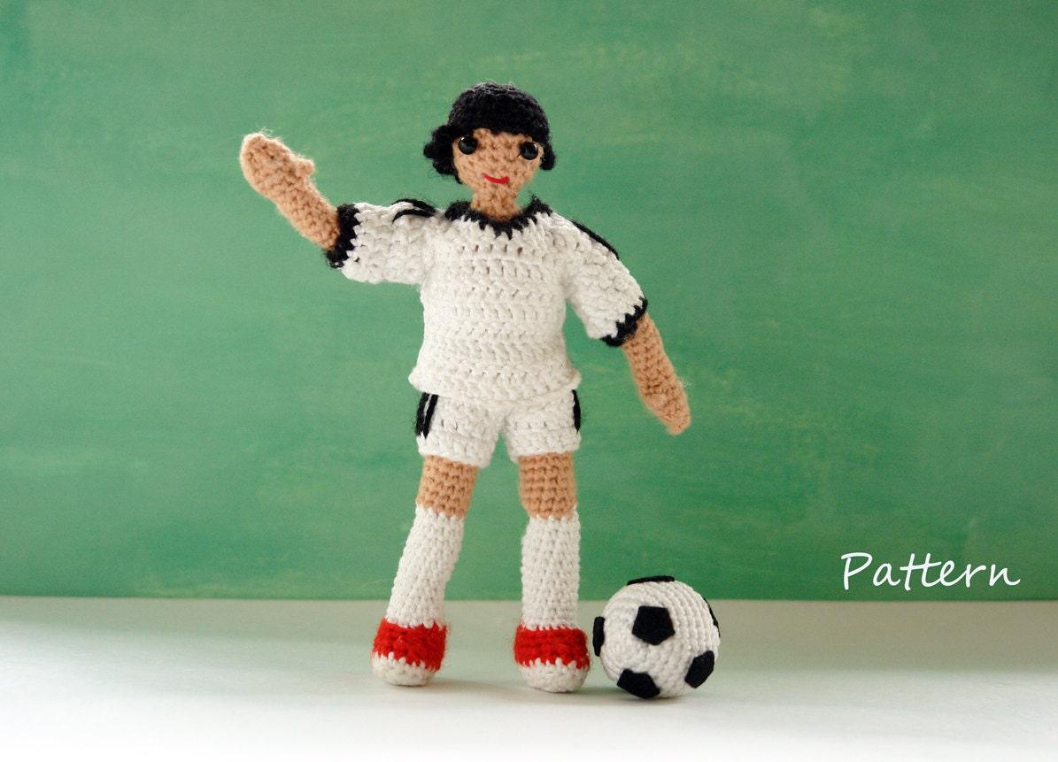 Amigurumi Boy Doll Pattern : Amigurumi doll pattern for football player boy crochet doll
