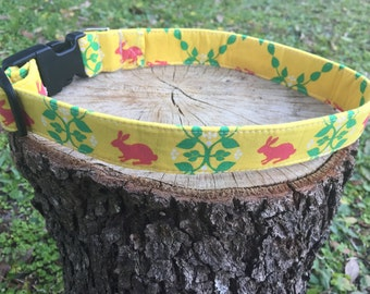 Bunny Dog Collar - Easter Dog Collar - Spring Dog Collar - Bunny Harness - Bunny Leash