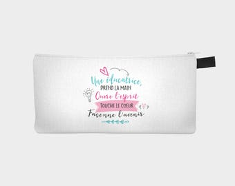 "Chest pencil - makeup pouch ""teacher"""
