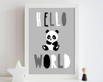 Panda Nursery print