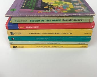 Vintage Beverly Cleary and Judy Blume lot of 7 Chapter Books Paperback