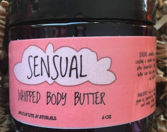 SENSUAL Whipped Body Butter, Aromatherapy