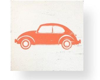 The Iconic Volkswagen Beetle VW Bug Rustic Sign,  VW beetle rustic sign