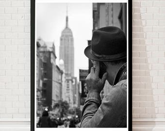 New York Print, Empire State Building, New York Poster, New York gifts, New York Decor, New York City, New York Wall Art, New York pictures