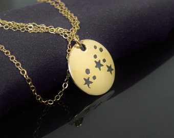 14k Gold Filled Leo Necklace, Gold Leo Necklace, Gold filled, Leo Constellation, Leo Jewelry, Zodiac Necklace, Leo Zodiac, Gold Necklace