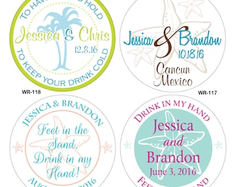 60 - 2.25 inch Custom Glossy Waterproof Wedding Stickers Labels - many designs to choose - change designs to any color or wording