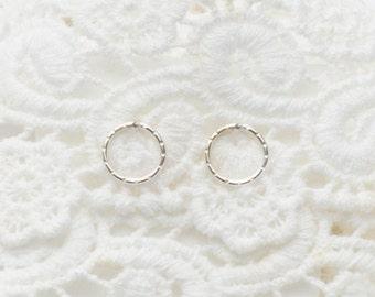 MOTHER DAY SALE - Circle Stud Earrings - Open circle Silver Earrings - Minimalist jewelry