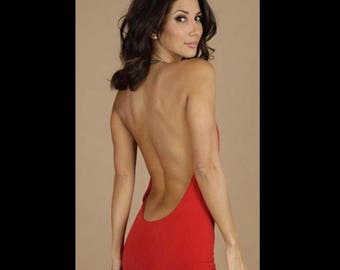 Backless chain dress