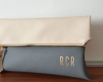 Colorblock Clutch, Monogrammed Clutch Purse, Evening Clutch Bag, Bridal Gift