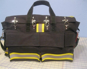 Firefighter Overnight Bag / Carry-on / Diaper Bag / Gym Bag