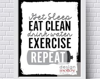 Fitness Motivation Printable - Exercise Printable - Fitspo - Workout Printable - Wall Decor for Gym -Fitness Inspiration -Fitness Motivation