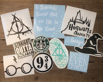 Bundle Harry Potter Decals - Car Decal - Harry Potter Decal