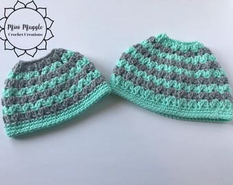 Mommy and Me Messy Bun Hat / Duo / Messy Bun Hats