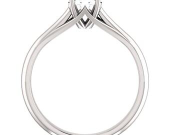 Forever One Moissanite 5mm Round 14K White Gold Diamond Engagement Ring   ***************Specail  For  You************** Gem887