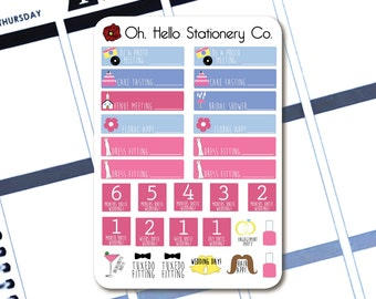 29 Wedding Stickers  - Planner Stickers for Erin Condren Life Planners - L5