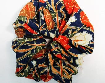 made from kimono fabric,vintage kimono,scrunchie