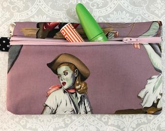 Zombie Pinup Travel Makeup Bag